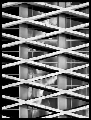 Art print titled Skyscraper by the artist Luc Stalmans