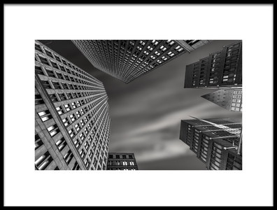 Art print titled Skyscrapers the Hague Holland by the artist Renso Profijt