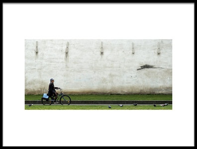 Art print titled Slow Riding In Antwerp by the artist Lus Joosten