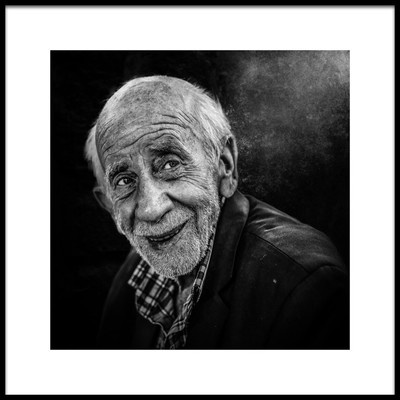 Art print titled Smiling Face by the artist Sayed Baqer Alkamel