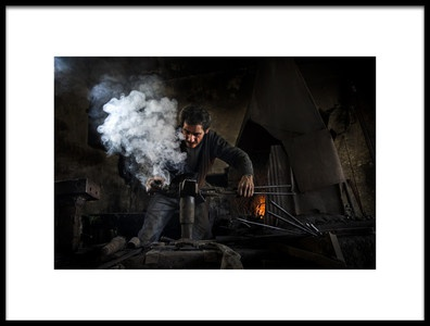 Buy this art print titled Smoke by the artist Savas Sener