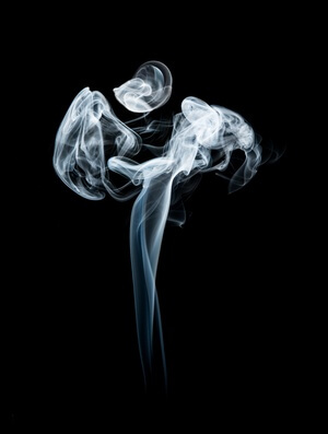 Art print titled Smoke Angel by the artist Jerry Berry