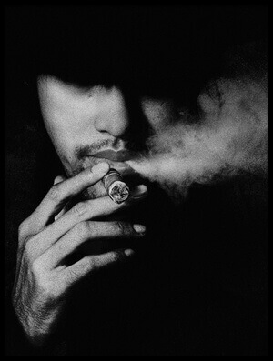 Art print titled Smoker by the artist jay satriani
