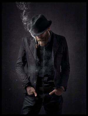 Art print titled Smoking by the artist Jose Garcia