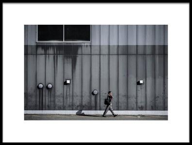 Art print titled Smoking While Walking by the artist Tetsuya Hashimoto