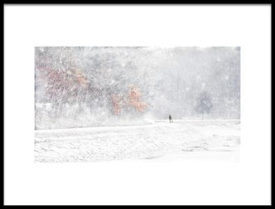 Art print titled Snow by the artist JM Fan