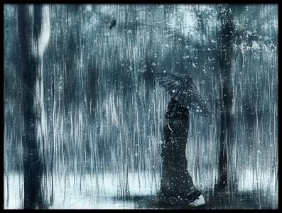 Art print titled Snowfall by the artist Svetlana Melik-Nubarova