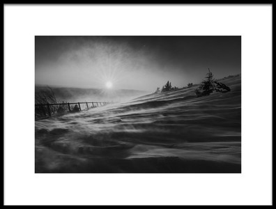 Art print titled Snowstorm by the artist Marian Kuric