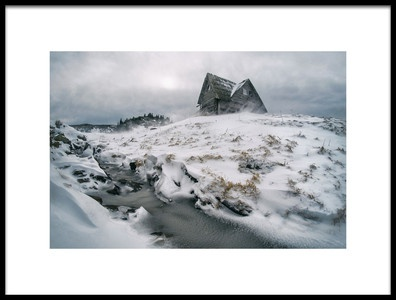 Art print titled Snowstorm On Mountain by the artist Mirsad