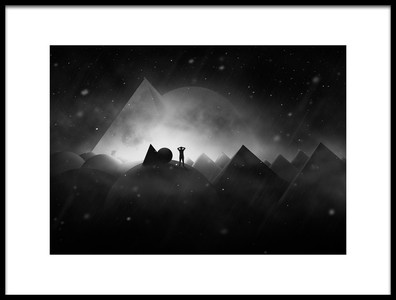 Art print titled Space  3 by the artist Hussain buhligaha