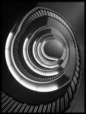 Art print titled Spiral Down by the artist Nina Pauli