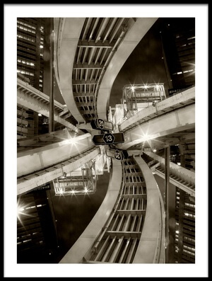 Buy this art print titled Spiral Junction by the artist Koji Tajima