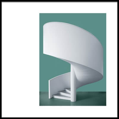 Art print titled Spiral Staircase by the artist Inge Schuster