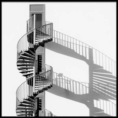 Buy this art print titled Spiral Staircase With Shadow by the artist Rainer Czerwonka