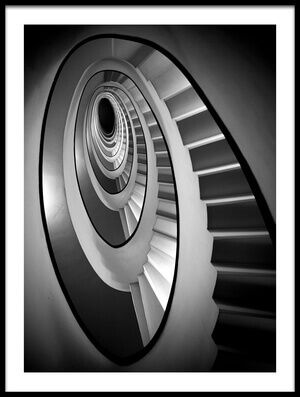 Buy this art print titled Spiral Steps by the artist stefano rapino
