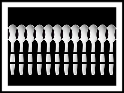 Art print titled Spoons Abstract: Fence by the artist Jacqueline Hammer