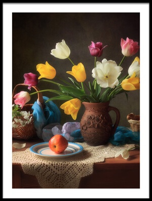 Art print titled Spring Still Life by the artist Tatyana Skorokhod (Татьяна Скороход)