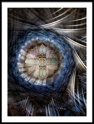 Art print titled St Davids Cathedral Roof by the artist Simon Pearce