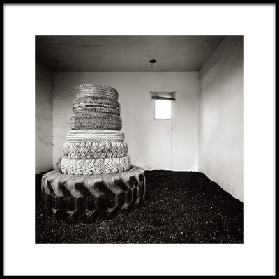 Art print titled Stack of Tyres by the artist Ken Rockwell