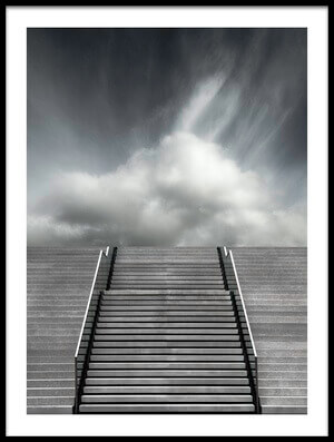 Art print titled Stair by the artist Gilbert Claes
