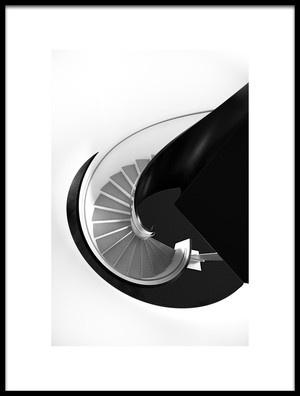 Art print titled Staircase by the artist Kurt Weinmeister