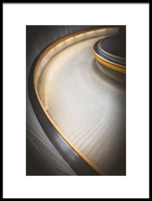 Art print titled Staircase at Ottawa Train Station by the artist Richard Huang