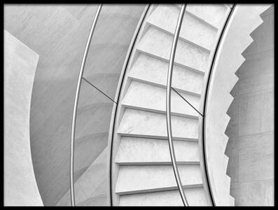 Art print titled Stairs In Curves by the artist Jeroen van de Wiel