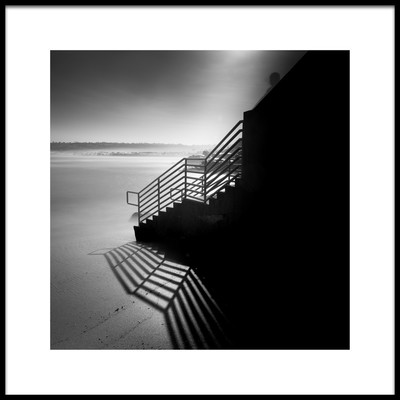 Art print titled Stairs to the Sea by the artist Yi Fan