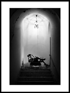 Art print titled Stairway Thinking by the artist lillo bonadonna
