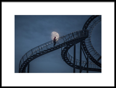 Buy this art print titled Stairway to the Moon by the artist Roelof de Hoog