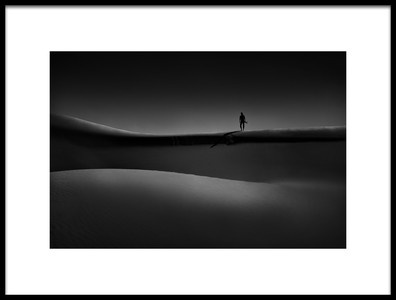 Art print titled Stand On the Edge of Light by the artist farshad boroomand