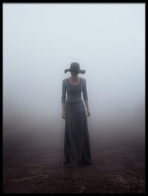 Art print titled Standing In the Fog by the artist MIKHAIL POTAPOV