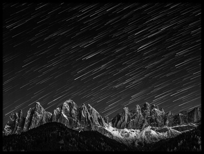 Buy this art print titled Starfall In the Dolomites by the artist Valeriy Shcherbina