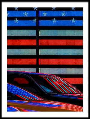 Art print titled Stars and Stripes Reflected by the artist Linda Wride