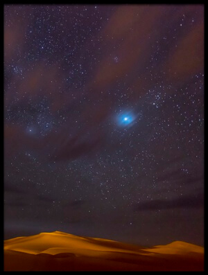 Buy this art print titled Stars Dunes and Clouds In Marzuga Desert II by the artist Tristan Shu
