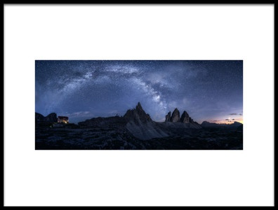 Art print titled Stars In the Dolomites by the artist Daniel Fleischhacker