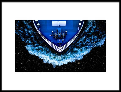 Art print titled Starship by the artist Klaus Grosshanten