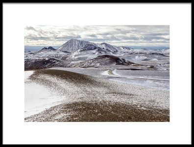 Art print titled Start of Winter In Iceland by the artist Mirjam Delrue