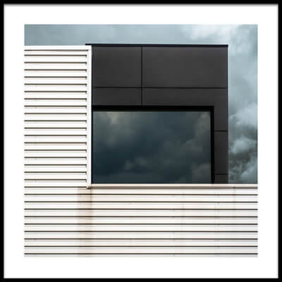 Art print titled Steel - Glass - Clouds by the artist Luc Vangindertael (laGrange)