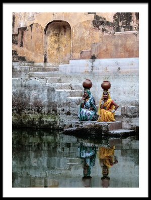 Art print titled Stepwell Reflections by the artist Susan Moss