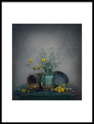 Art print titled Still Life With Dandelions by the artist Dimitar Lazarov - Dim