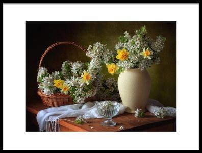 Art print titled Still Life With Flowers May by the artist Tatyana Skorokhod (Татьяна Скороход)