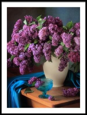Art print titled Still Life With Fragrant Lilac by the artist Tatyana Skorokhod (Татьяна Скороход)