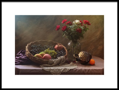 Buy this art print titled Still Life With Fruit and Roses by the artist UstinaGreen