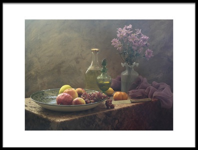 Art print titled Still Life With Lilac Flowers by the artist UstinaGreen