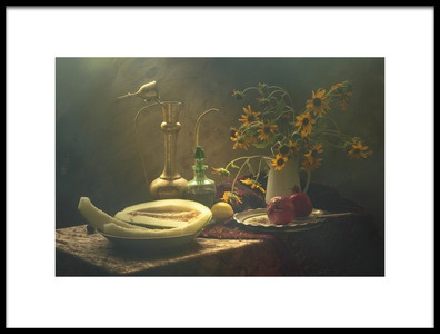 Art print titled Still Life With Melon by the artist UstinaGreen