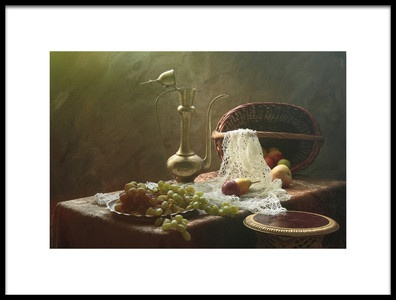Art print titled Still Life With Metall Vessel by the artist UstinaGreen
