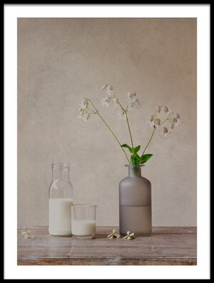 Art print titled Still Life With Milk by the artist Galina Bunkova