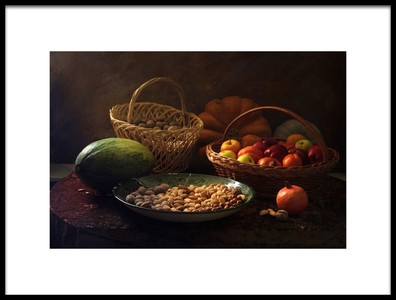 Buy this art print titled Still Life With Nutz and Fruits by the artist UstinaGreen