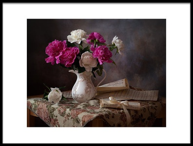 Art print titled Still Life With Peonies by the artist Alina Lankina